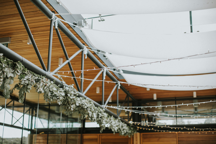 Greenery Swag Garland Reception Decor Fairy Lights Creative DIY Rustic Lavender Wedding http://www.nataliepluck.com/