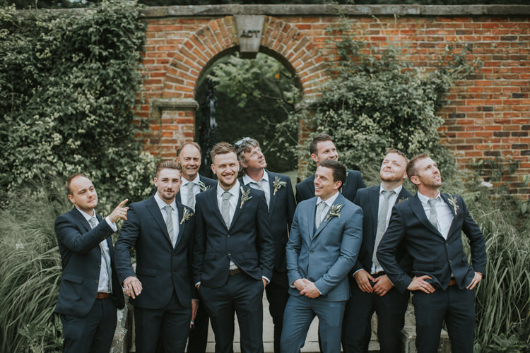Blue Suits Groom Groomsmen Next Creative DIY Rustic Lavender Wedding http://www.nataliepluck.com/