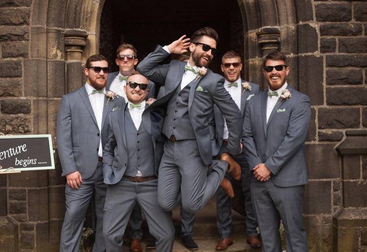 Groomsmen Suits Bow Ties Pastel Marquee Garden Party Wedding https://www.deliciousphotography.co.uk/