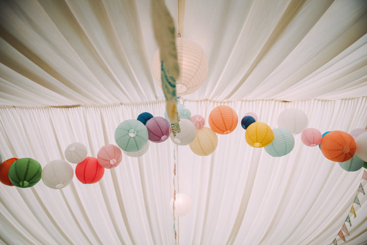 Lanterns Marquee Colourful Cool Hand Made Wedding http://www.jonnybarratt.com/