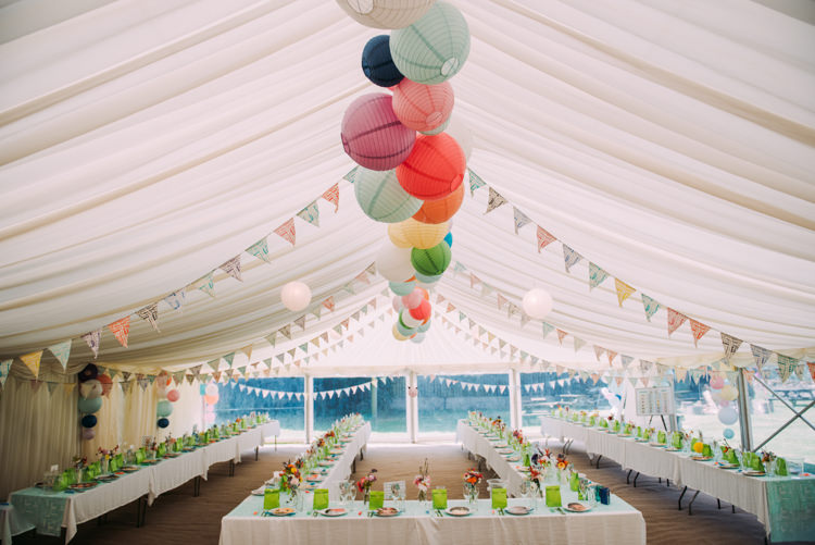 Marquee Lanterns Bunting Colourful Cool Hand Made Wedding http://www.jonnybarratt.com/