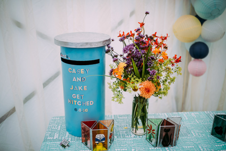 Card Post Box Colourful Cool Hand Made Wedding http://www.jonnybarratt.com/
