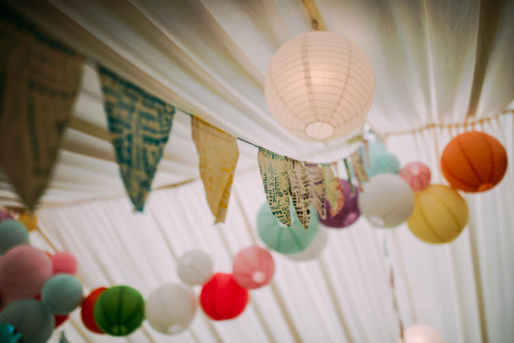 Lanterns Bunting Colourful Cool Hand Made Wedding http://www.jonnybarratt.com/