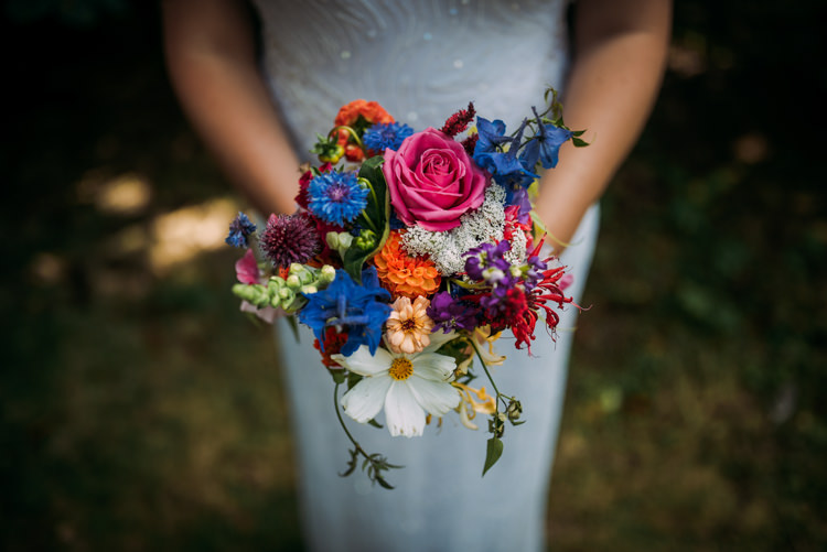 Bouquet Flowers Bride Bridal Home Grown DIY Colourful Cool Hand Made Wedding http://www.jonnybarratt.com/