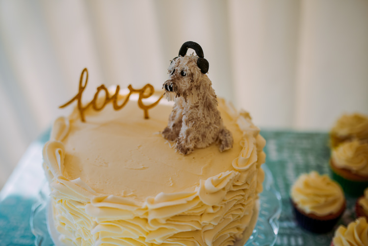 Dog Cake Topper Colourful Cool Hand Made Wedding http://www.jonnybarratt.com/