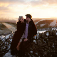 Snowy Peak District Engagement http://www.juntanweddings.com/