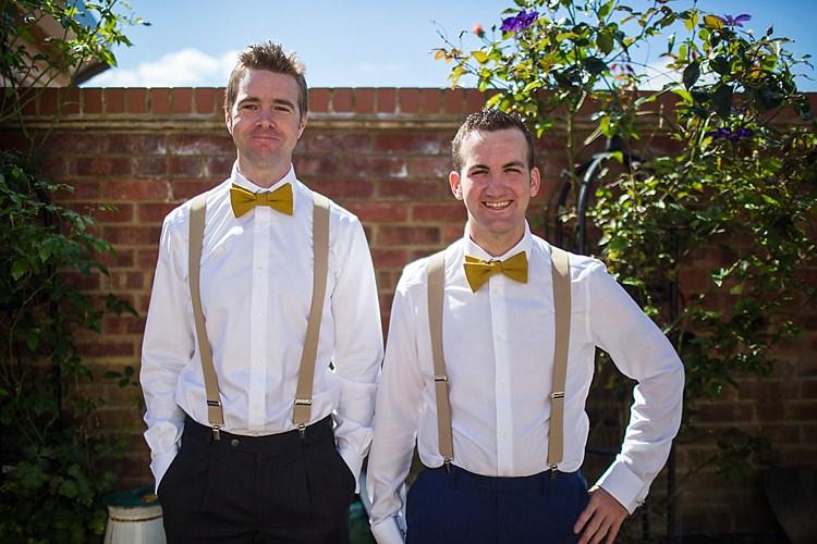 Bow Tie Braces Groomsmen Pretty Outdoorsy Yellow Tipi Wedding http://www.binkynixon.com/