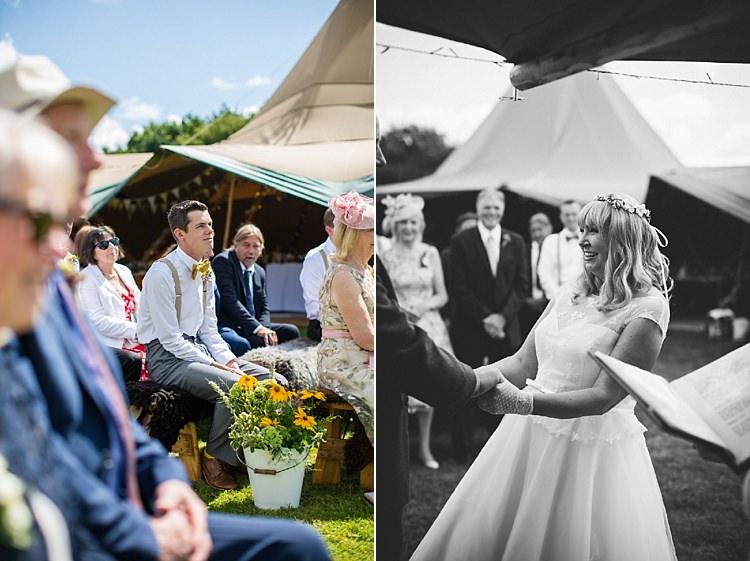Pretty Outdoorsy Yellow Tipi Wedding http://www.binkynixon.com/