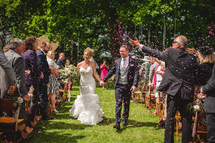 Confetti Throw Magical Fun Outdoor Barn Wedding http://www.sophieduckworthphotography.com/