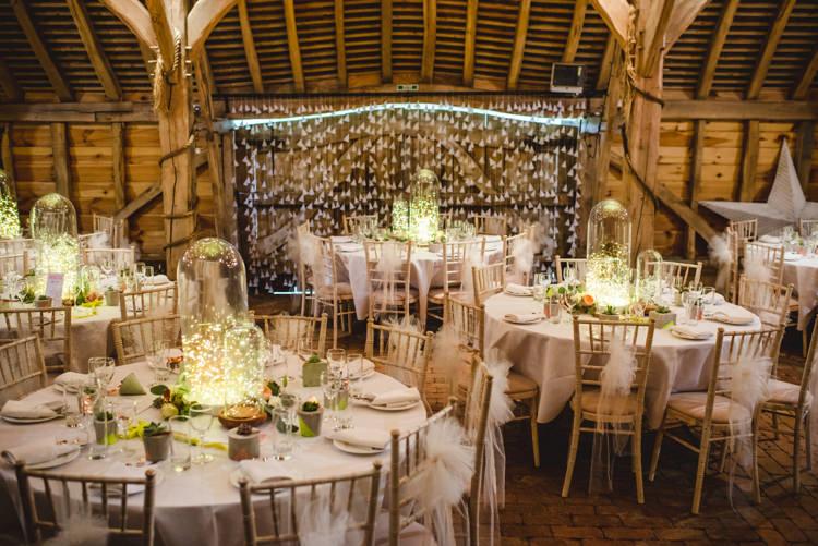Paper Top Table Backdrop Cones Magical Fun Outdoor Barn Wedding http://www.sophieduckworthphotography.com/