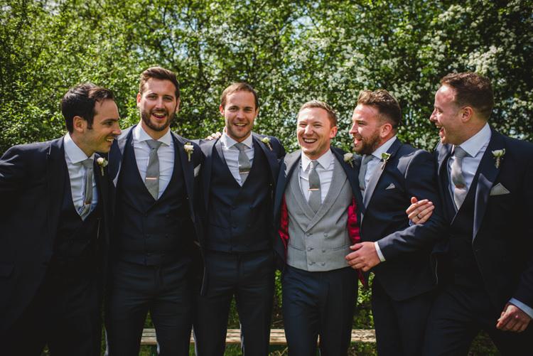 Navy Suits Groomsmen Magical Fun Outdoor Barn Wedding http://www.sophieduckworthphotography.com/