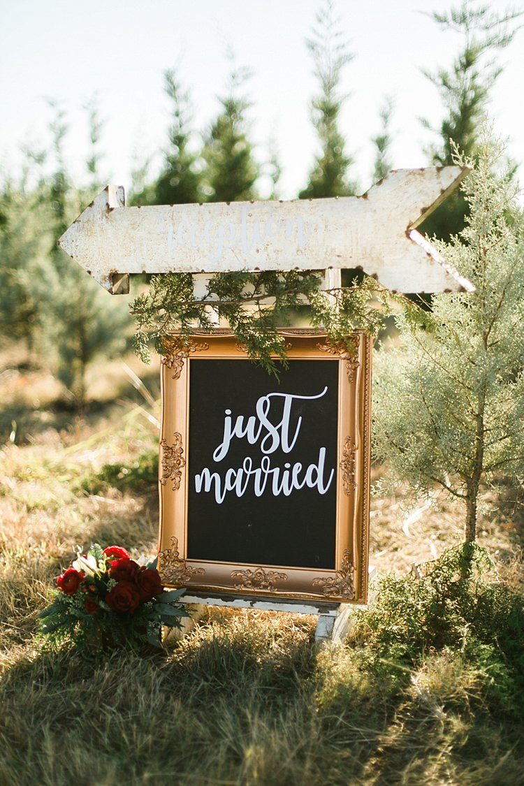 Sign Chalk Black Board Frame Calligraphy Lettering Christmas Tree Farm Wedding Ideas http://loriblythe.com/