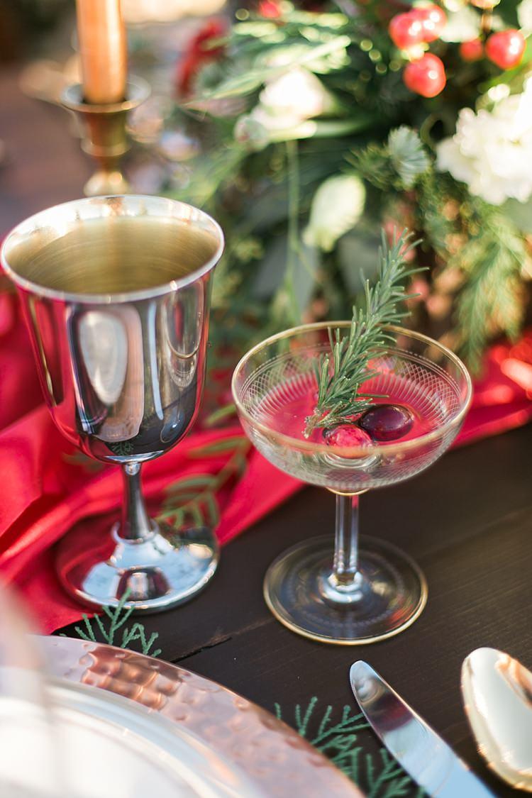 Cocktail Drinks Party Christmas Tree Farm Wedding Ideas http://loriblythe.com/