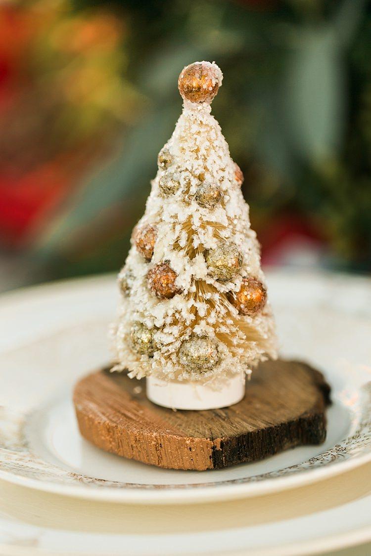 Decoration Favour Place Setting Christmas Tree Farm Wedding Ideas http://loriblythe.com/