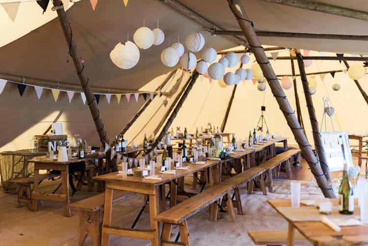 Lanterns Long Tables Bunting Rustic Camping Festival Rave Tipi Wedding http://petalandblushartistry.co.uk/