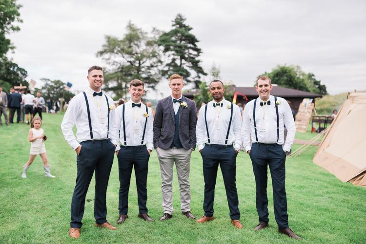 Groomsmen Bow Ties Braces Camping Festival Rave Tipi Wedding http://petalandblushartistry.co.uk/