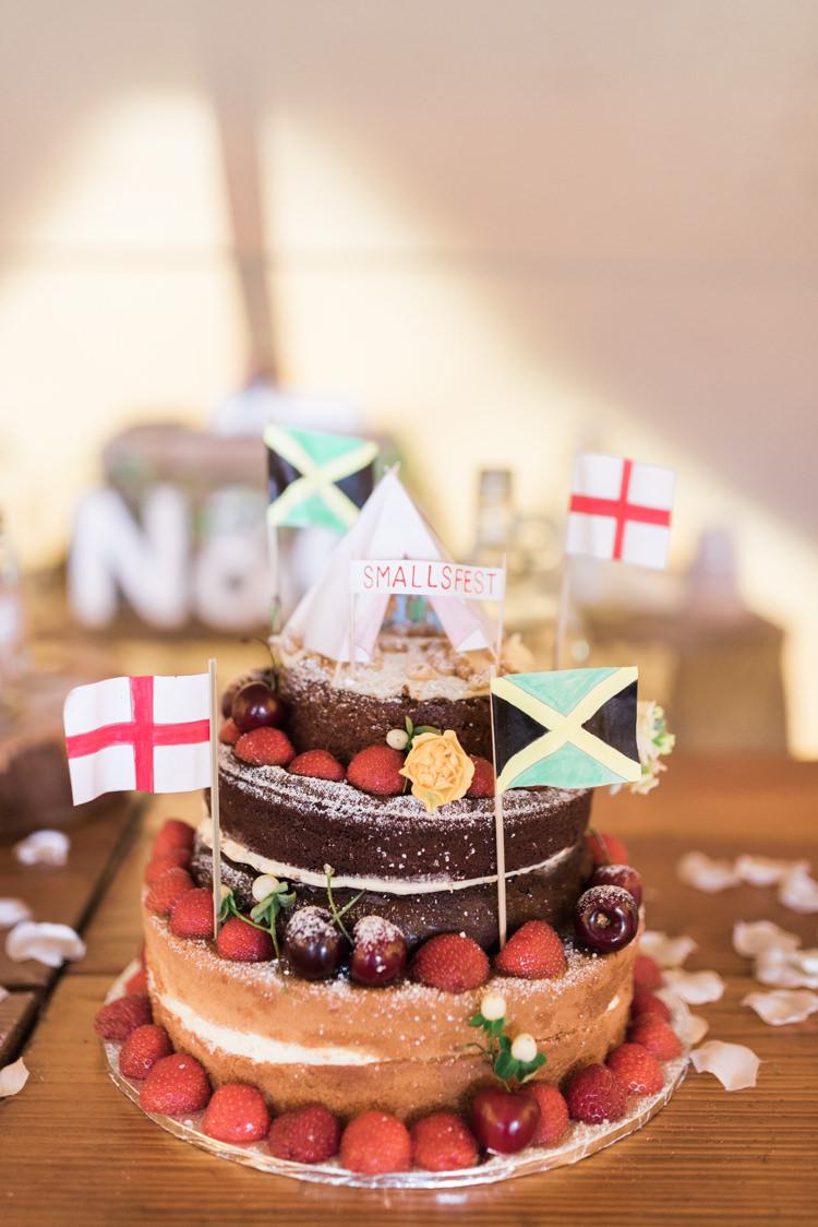 Naked Cake Sponge Victoria Layer Camping Festival Rave Tipi Wedding http://petalandblushartistry.co.uk/