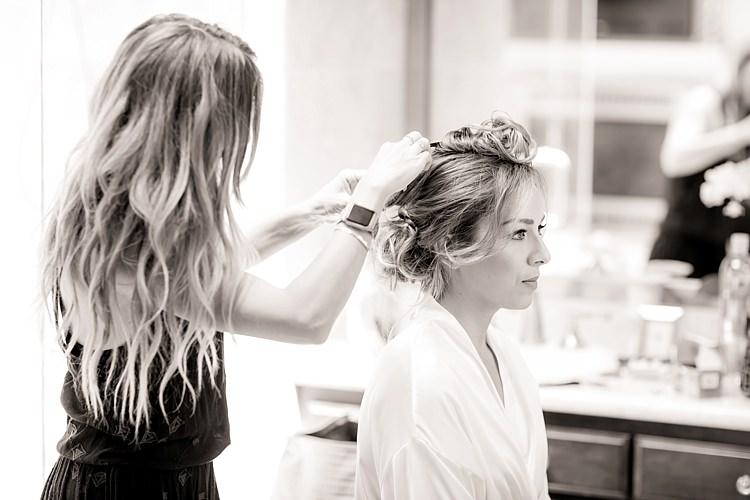 Bride Hair Makeup Ceremony Preparation Luxe Outdoor Garden Wedding in California http://figlewiczphotography.com/