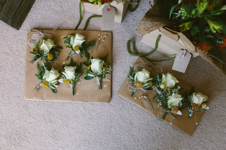 Rose Buttonholes Small Vintage City Wedding http://www.sarahlondonphotography.co.uk/