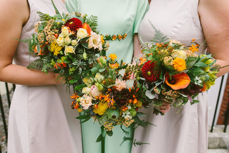 Autumn Bouquet Flowers Bride Bridal Bridesmaids Small Vintage City Wedding http://www.sarahlondonphotography.co.uk/