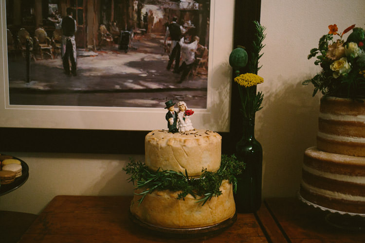 Pie Cake Small Vintage City Wedding http://www.sarahlondonphotography.co.uk/