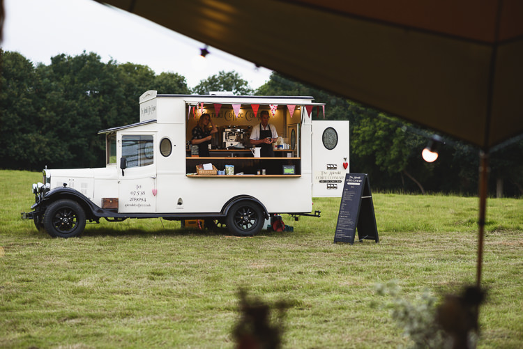 Coffee Truck Bar Station Van Colourful Outdoorsy Festival Tipi Wedding http://www.jacksonandcophotography.com/