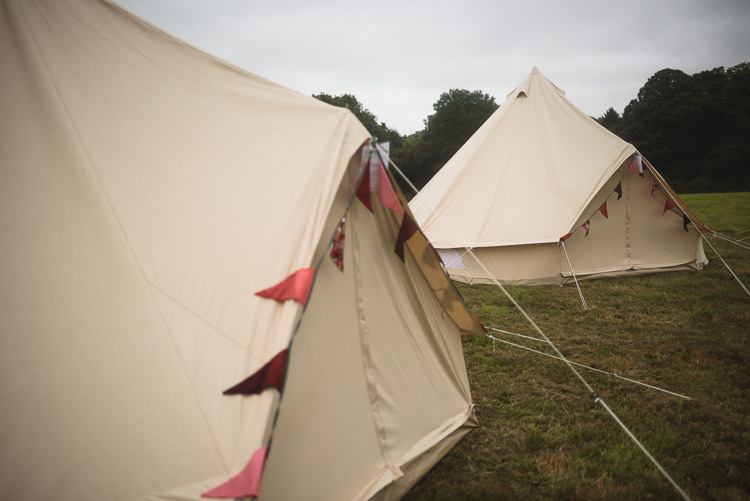 Glamping Bell Tents Colourful Outdoorsy Festival Tipi Wedding http://www.jacksonandcophotography.com/