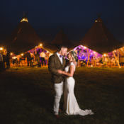 Colourful Outdoorsy Festival Tipi Wedding