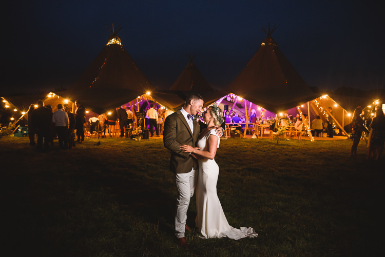 Fairy Lights Colourful Outdoorsy Festival Tipi Wedding http://www.jacksonandcophotography.com/