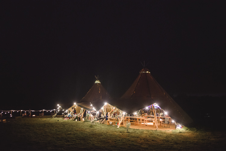 Festoon Lights Fairy Colourful Outdoorsy Festival Tipi Wedding http://www.jacksonandcophotography.com/