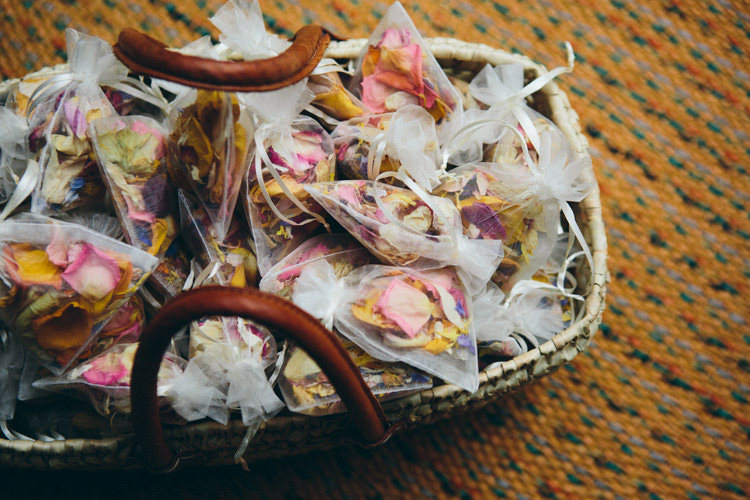 Confetti Petal Bags Colourful Outdoorsy Tipi Wedding http://amybphotography.co.uk/