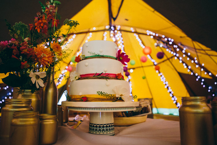 Gluten Free Marks Spencer Cake Colourful Outdoorsy Tipi Wedding http://amybphotography.co.uk/