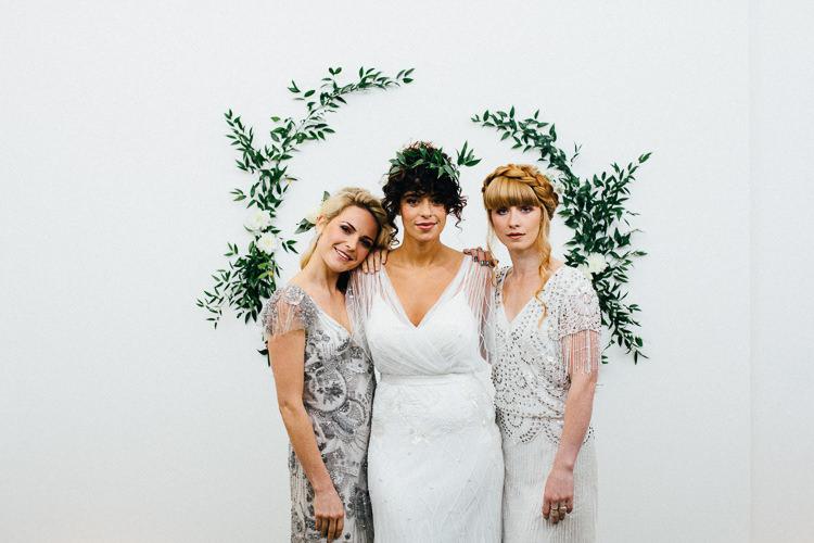 Foliage Greenery Backdrop Wall Art Bride Bridal Rustic Industrial Warehouse Wedding Ideas http://www.timdunk.com/