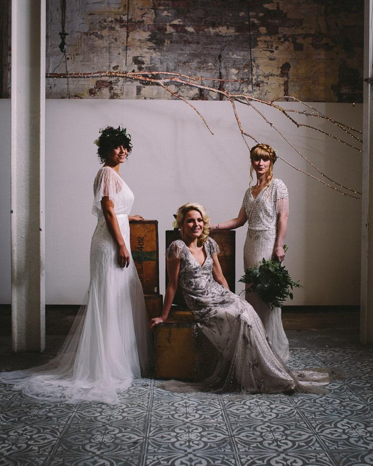 Eliza Jane Howell Dresses Gowns Bride Bridal Embellished Rustic Industrial Warehouse Wedding Ideas http://www.timdunk.com/