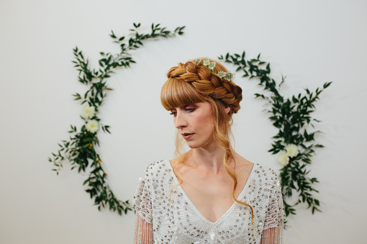 Plait Braid Hair Bride Bridal Style Rustic Industrial Warehouse Wedding Ideas http://www.timdunk.com/