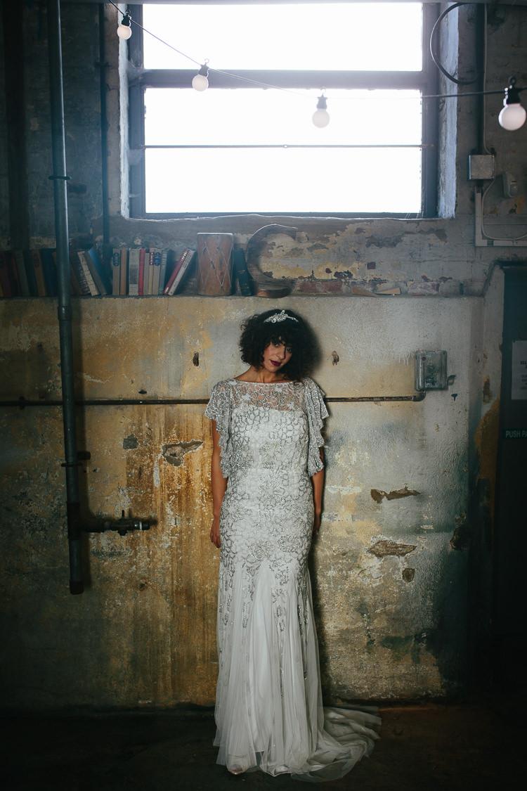 Eliza Jane Howell Dress Gown Bride Bridal Rustic Industrial Warehouse Wedding Ideas http://www.timdunk.com/