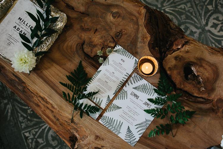 Fern Stationery Invitations Rustic Industrial Warehouse Wedding Ideas http://www.timdunk.com/