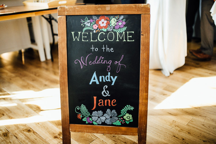 Black Chalk Board Sign Intimate Urban Foodie Wedding http://www.beatriciphotography.co.uk/