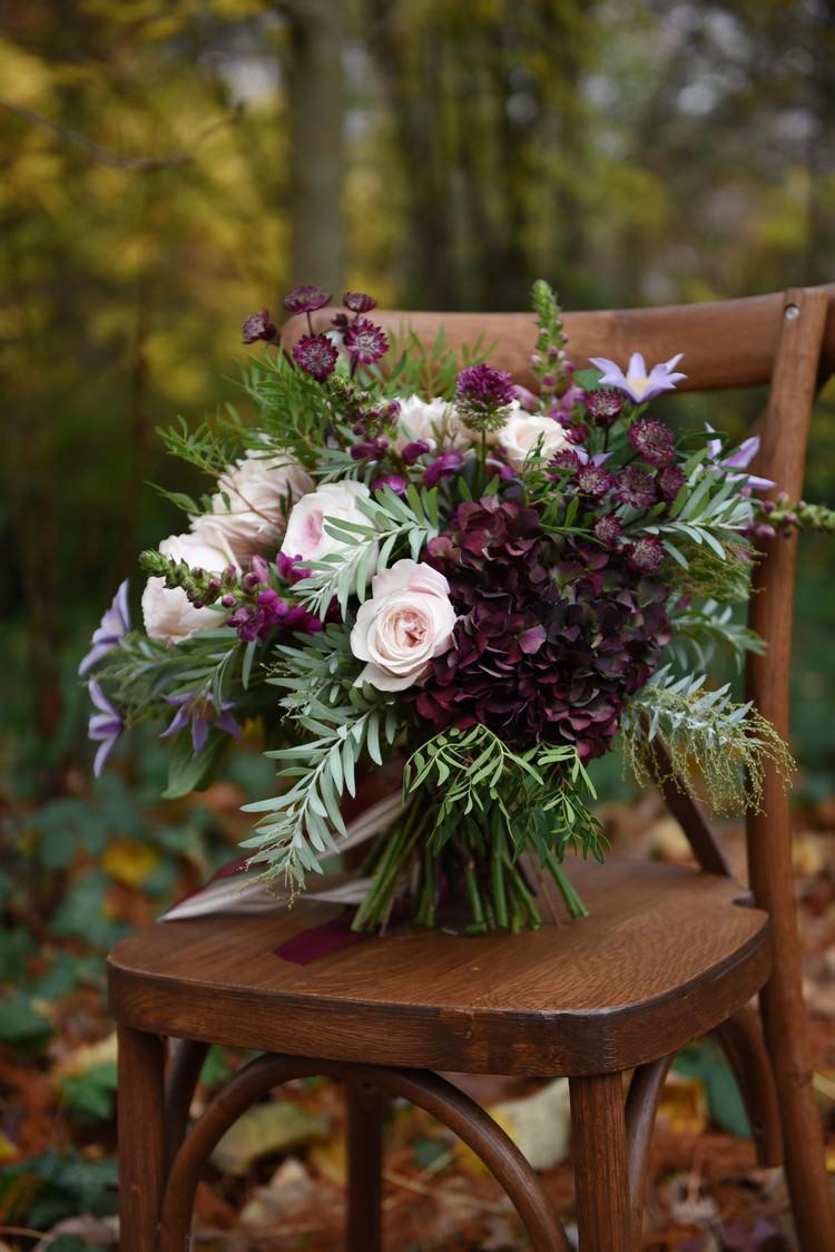 ... Bouquet Flowers Plum Blush Ivory Foliage Bride Bridal Rich Autumn Park  Wedding Ideas Http:/ ...