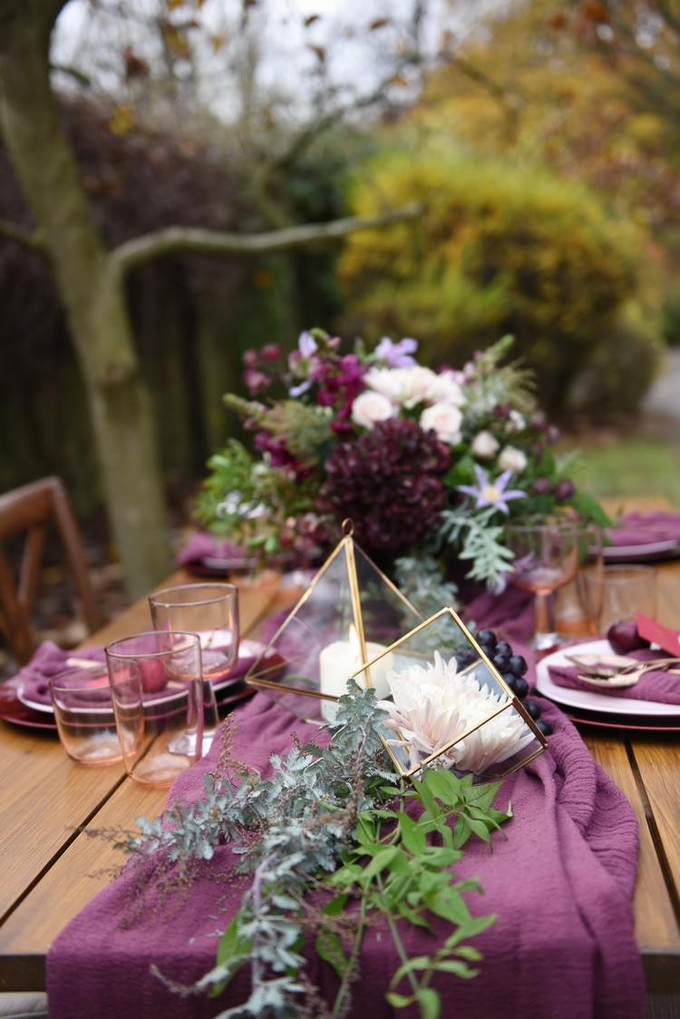 Rich Amp Luxe Autumn Park Wedding Ideas Whimsical
