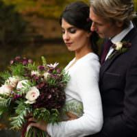Rich Autumn Park Wedding Ideas http://www.evatarnok.com/