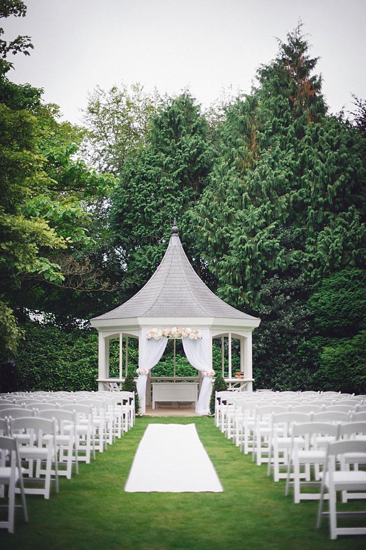 Outdoor Gazebo Ceremony UK Kent Natural Peach Garden Wedding http://www.juliaandyou.co.uk/