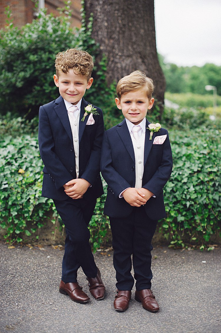 Page Boys Suits Natural Peach Garden Wedding http://www.juliaandyou.co.uk/