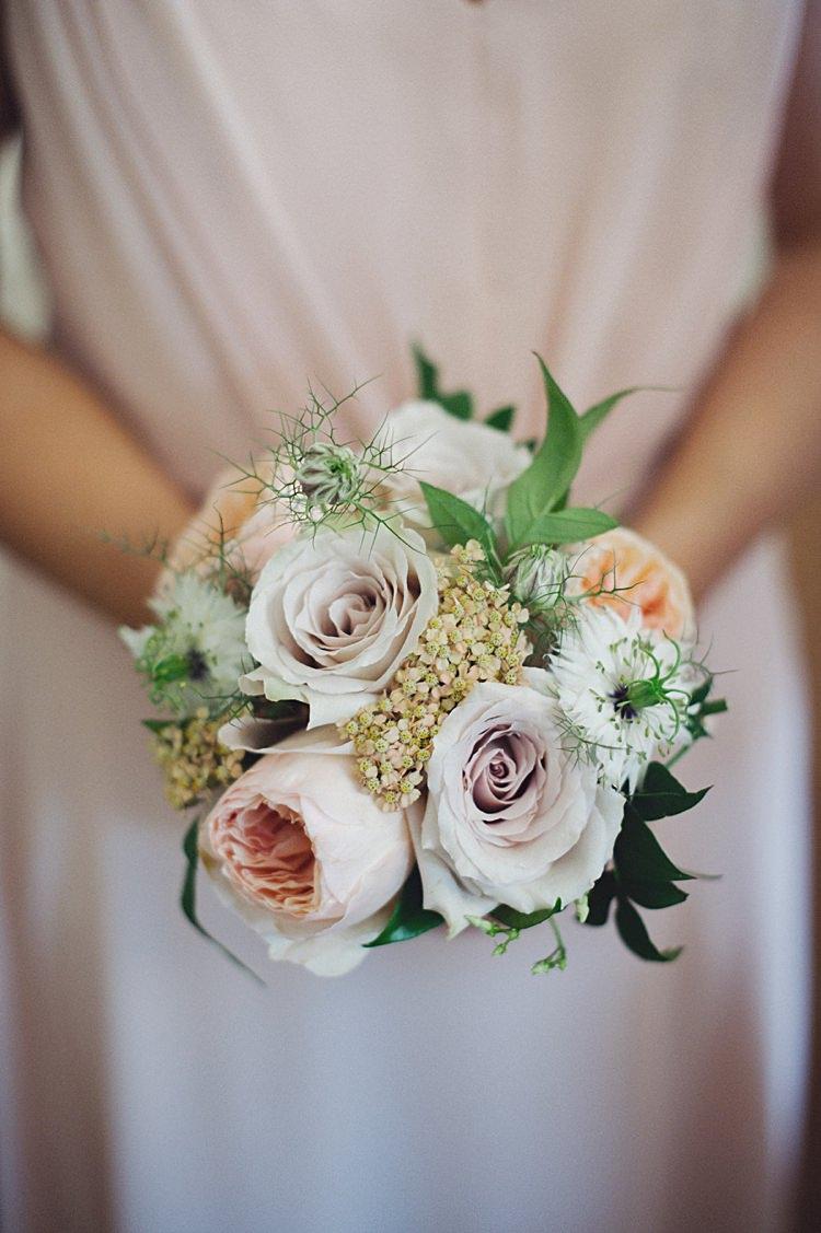 Bouquet Bridesmaid Flowers White Lilac Rose Natural Peach Garden Wedding http://www.juliaandyou.co.uk/
