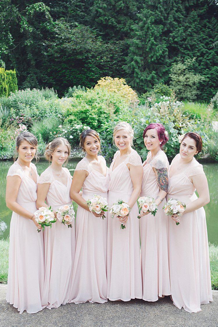 Long Pink Bridesmaid Dresses Natural Peach Garden Wedding http://www.juliaandyou.co.uk/