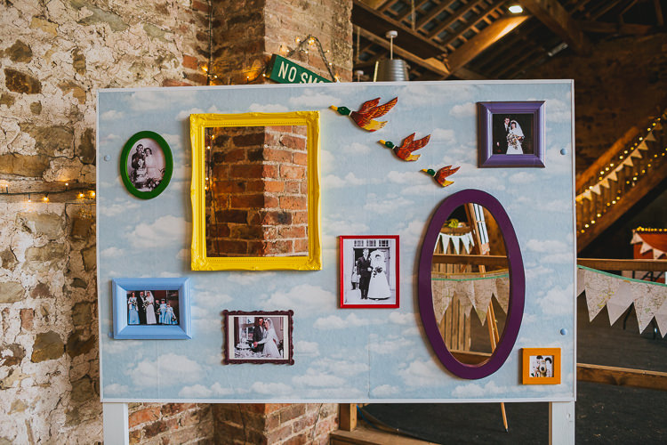 Photo Booth Wall Frame Backdrop DIY Hand Crafted Camp Woodland Wedding http://bloomweddings.co.uk/