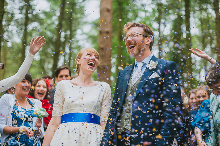 Confetti Throw Bride Groom Petal Hand Crafted Camp Woodland Wedding http://bloomweddings.co.uk/