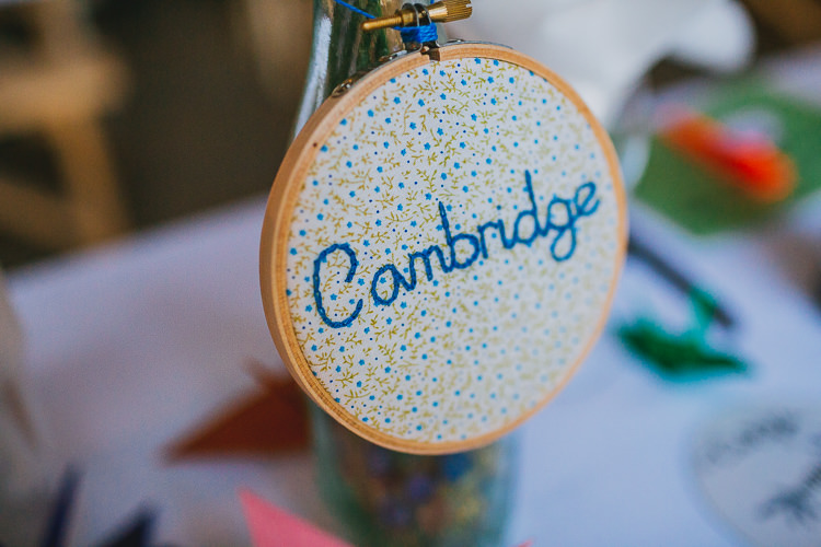 Embriodery Table Name Hoop Hand Crafted Camp Woodland Wedding http://bloomweddings.co.uk/