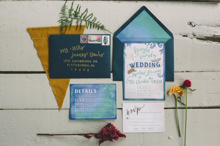 Stationery Invitations Boho Gypsy Vintage Circus Wedding Ideas http://www.oakwoodphotography.com/