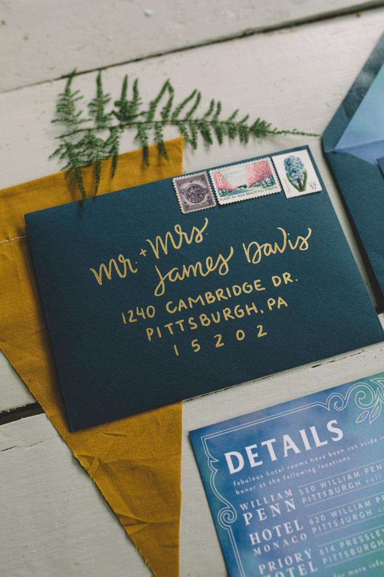 Calligraphy Envelope Stationery Invitation Boho Gypsy Vintage Circus Wedding Ideas http://www.oakwoodphotography.com/